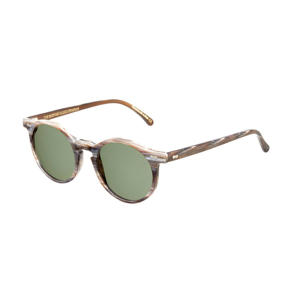 CANVAS BROWN BRUSHED FRAME - BOTTLE GREEN LENSES TBD BESPOKE EYEWEAR