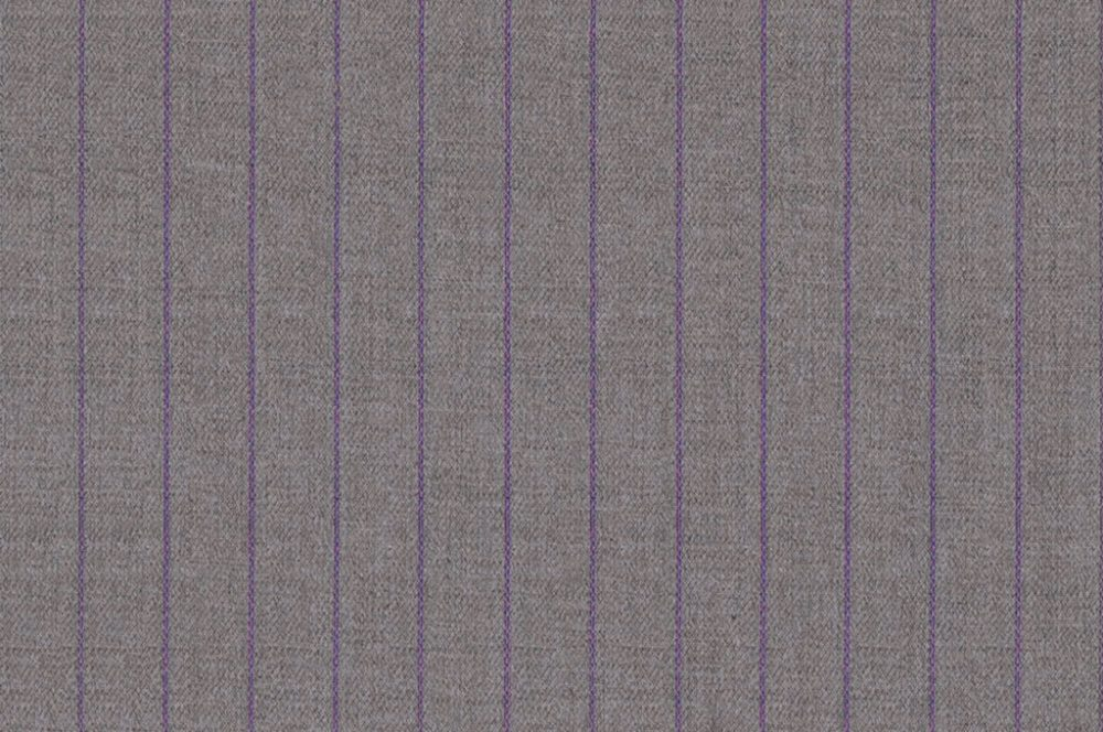 LIGHT GREY WITH PURPLE PINSTRIPES
