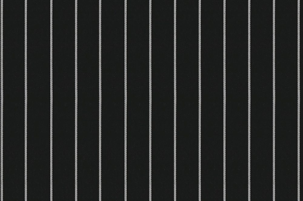 BLACK WITH WHITE CHALK STRIPES
