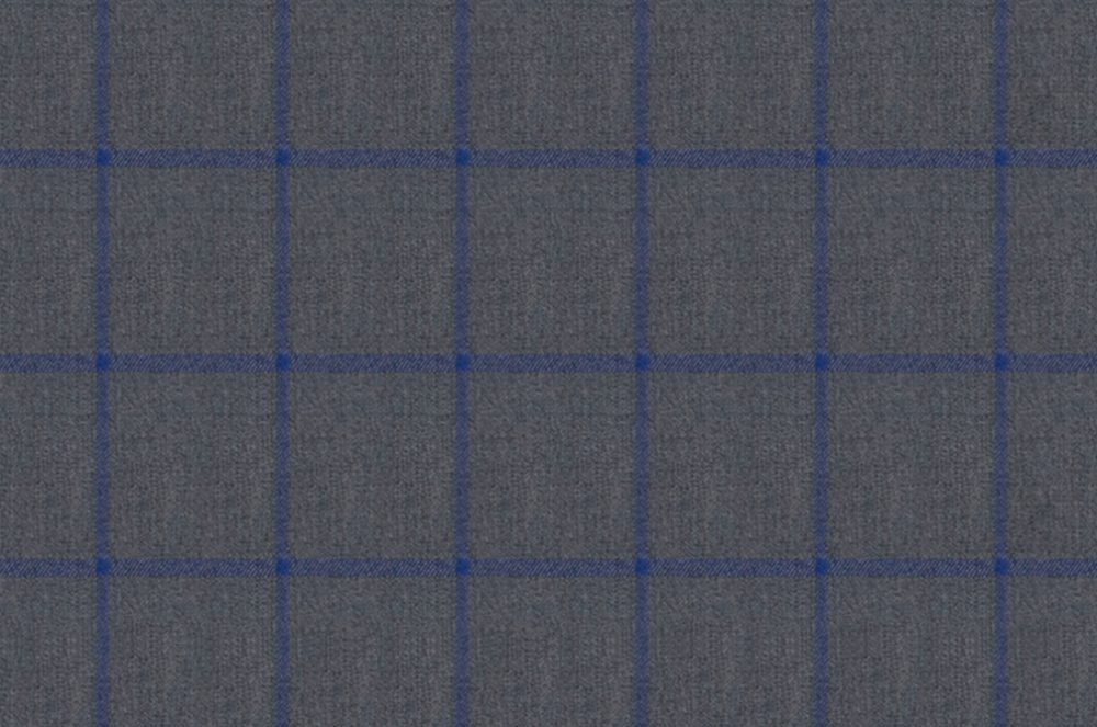 LIGHT GREY WITH BLUE WINDOWPANE