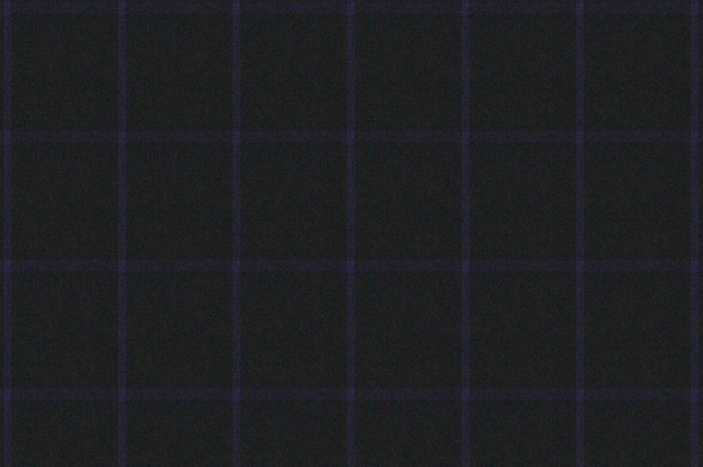 BLACK WITH PURPLE WINDOWPANE