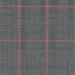 SIGNATURE GREY GLEN PLAID WITH RED WINDOWPANE